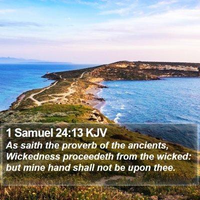 1 Samuel 24:13 KJV Bible Verse Image
