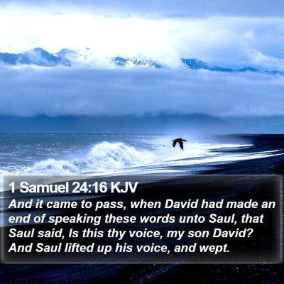 1 Samuel 24:16 KJV Bible Verse Image
