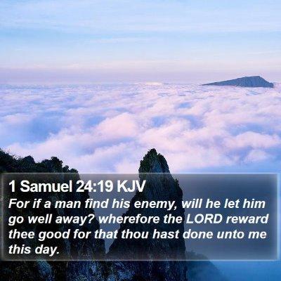1 Samuel 24:19 KJV Bible Verse Image