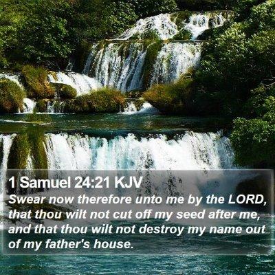 1 Samuel 24:21 KJV Bible Verse Image