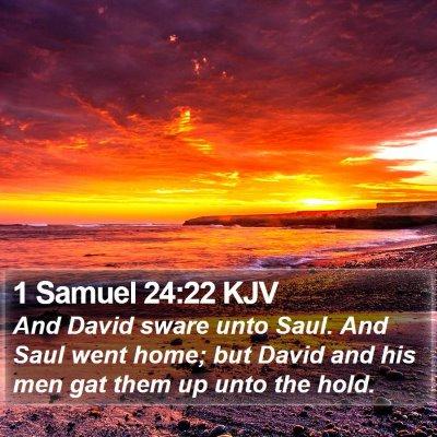 1 Samuel 24:22 KJV Bible Verse Image
