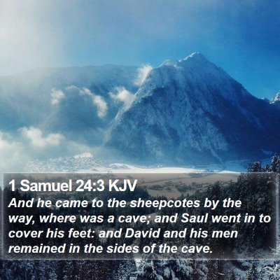 1 Samuel 24:3 KJV Bible Verse Image