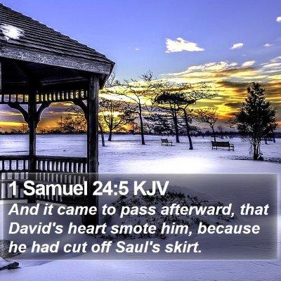1 Samuel 24:5 KJV Bible Verse Image