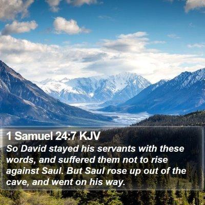 1 Samuel 24:7 KJV Bible Verse Image