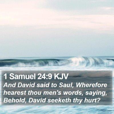 1 Samuel 24:9 KJV Bible Verse Image