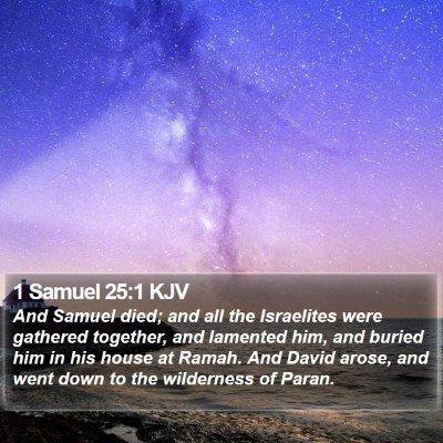 1 Samuel 25:1 KJV Bible Verse Image