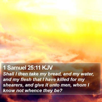 1 Samuel 25:11 KJV Bible Verse Image