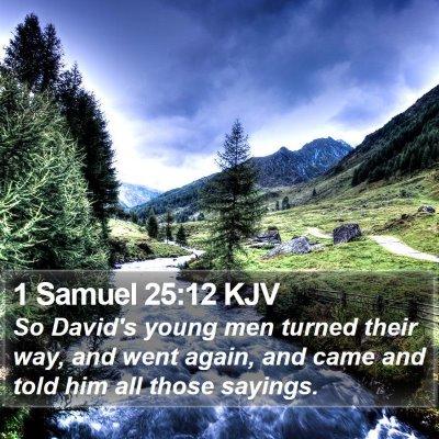 1 Samuel 25:12 KJV Bible Verse Image