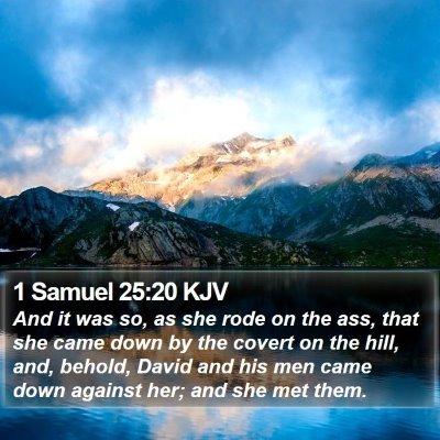 1 Samuel 25:20 KJV Bible Verse Image