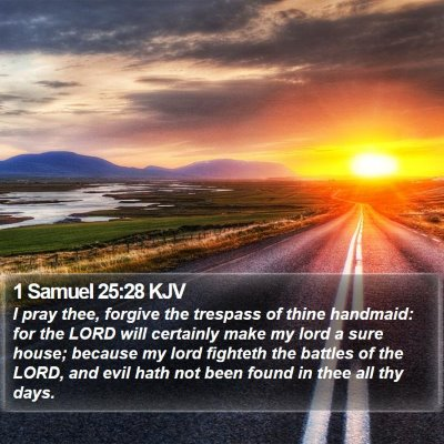 1 Samuel 25:28 KJV Bible Verse Image
