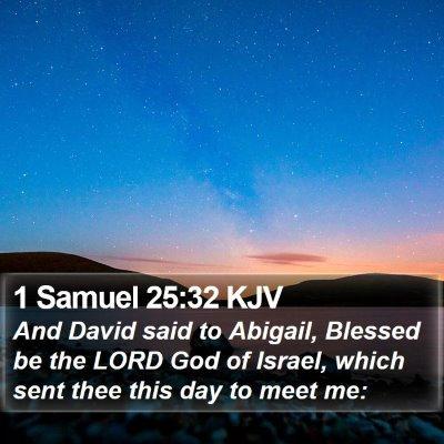 1 Samuel 25:32 KJV Bible Verse Image