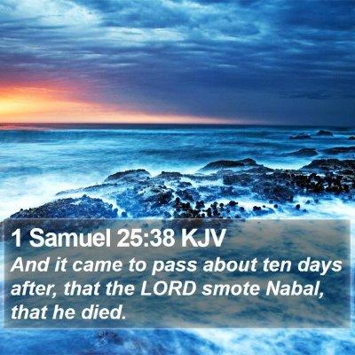 1 Samuel 25:38 KJV Bible Verse Image