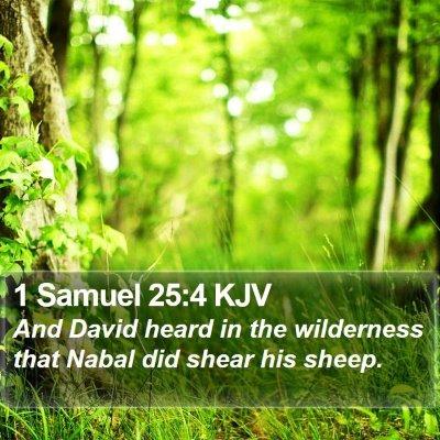 1 Samuel 25:4 KJV Bible Verse Image