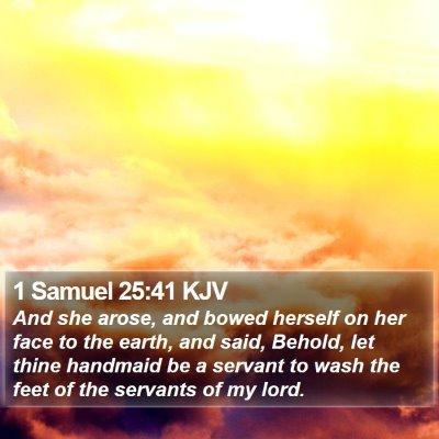 1 Samuel 25:41 KJV Bible Verse Image