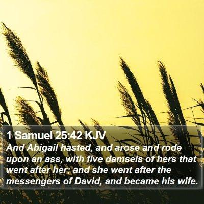 1 Samuel 25:42 KJV Bible Verse Image