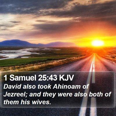 1 Samuel 25:43 KJV Bible Verse Image
