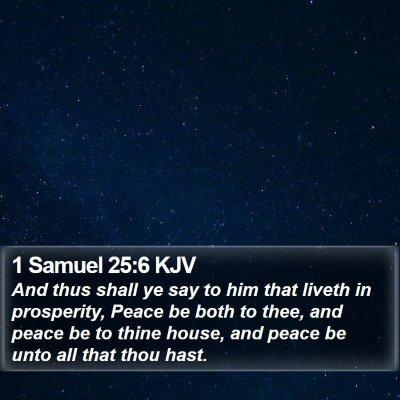1 Samuel 25:6 KJV Bible Verse Image