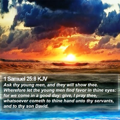 1 Samuel 25:8 KJV Bible Verse Image