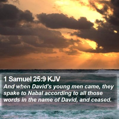 1 Samuel 25:9 KJV Bible Verse Image
