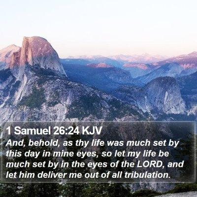 1 Samuel 26:24 KJV Bible Verse Image