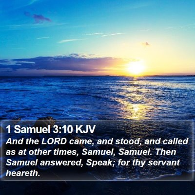 1 Samuel 3:10 KJV Bible Verse Image
