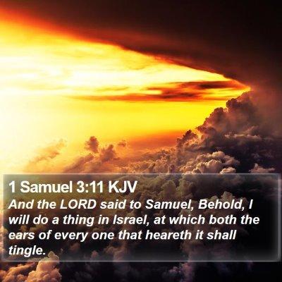 1 Samuel 3:11 KJV Bible Verse Image