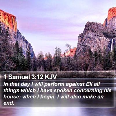 1 Samuel 3:12 KJV Bible Verse Image