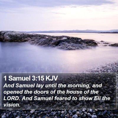 1 Samuel 3:15 KJV Bible Verse Image