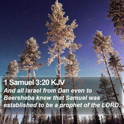1 Samuel 3:20 KJV Bible Verse Image