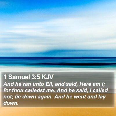 1 Samuel 3:5 KJV Bible Verse Image
