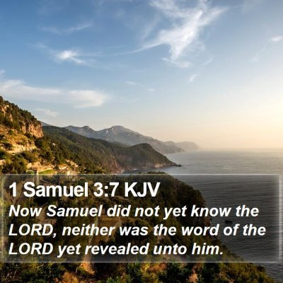 1 Samuel 3:7 KJV Bible Verse Image