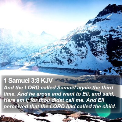 1 Samuel 3:8 KJV Bible Verse Image