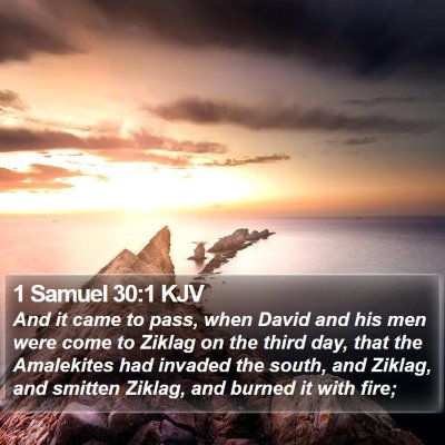 1 Samuel 30:1 KJV Bible Verse Image