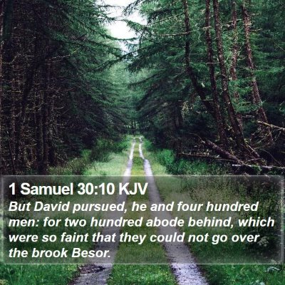 1 Samuel 30:10 KJV Bible Verse Image