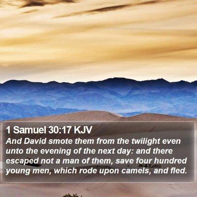 1 Samuel 30:17 KJV Bible Verse Image