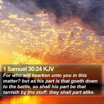 1 Samuel 30:24 KJV Bible Verse Image