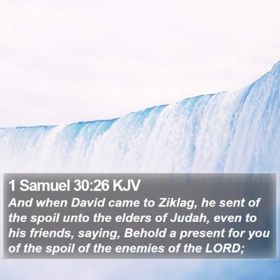 1 Samuel 30:26 KJV Bible Verse Image