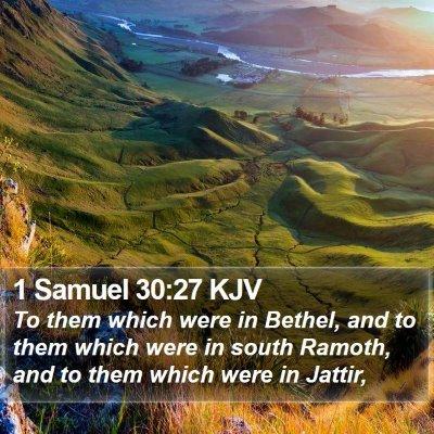 1 Samuel 30:27 KJV Bible Verse Image