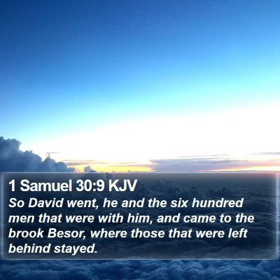 1 Samuel 30:9 KJV Bible Verse Image