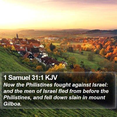 1 Samuel 31:1 KJV Bible Verse Image