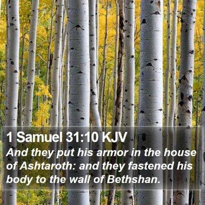 1 Samuel 31:10 KJV Bible Verse Image