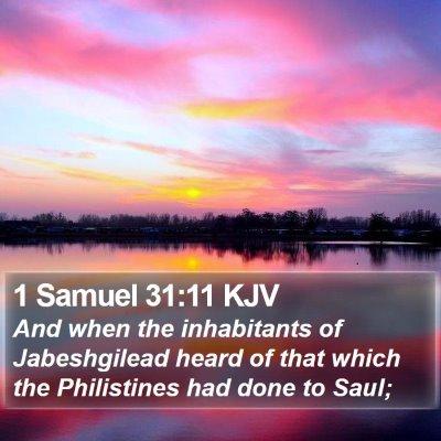 1 Samuel 31:11 KJV Bible Verse Image