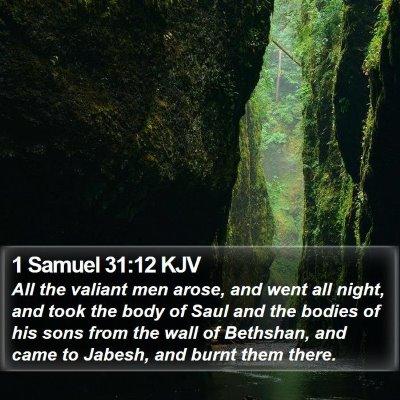 1 Samuel 31:12 KJV Bible Verse Image