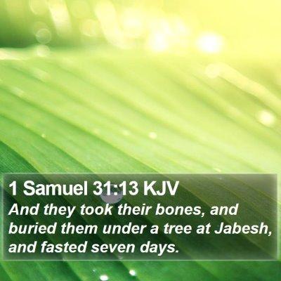 1 Samuel 31:13 KJV Bible Verse Image