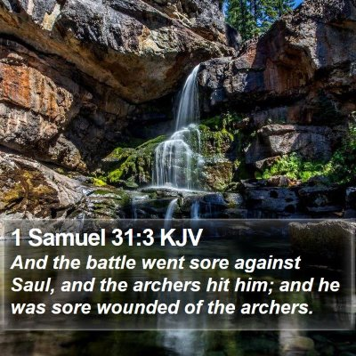 1 Samuel 31:3 KJV Bible Verse Image