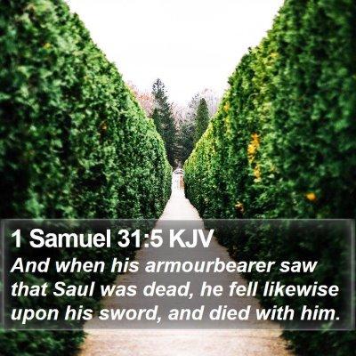 1 Samuel 31:5 KJV Bible Verse Image