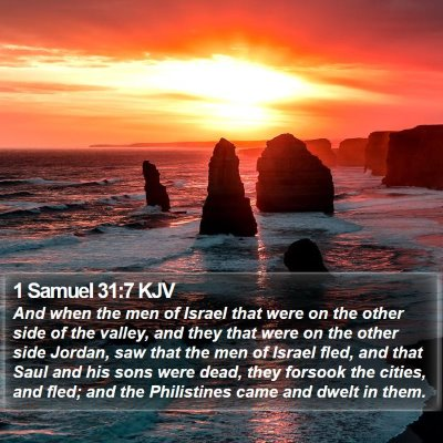 1 Samuel 31:7 KJV Bible Verse Image