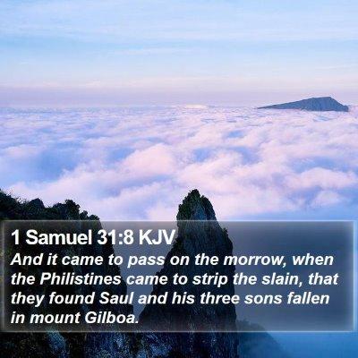 1 Samuel 31:8 KJV Bible Verse Image