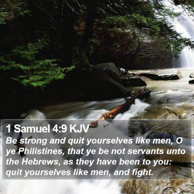 1 Samuel 4:9 KJV Bible Verse Image