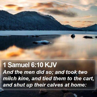 1 Samuel 6:10 KJV Bible Verse Image